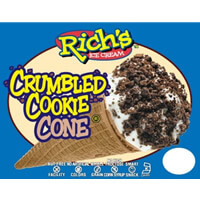 Crumbled Cookie Cone
